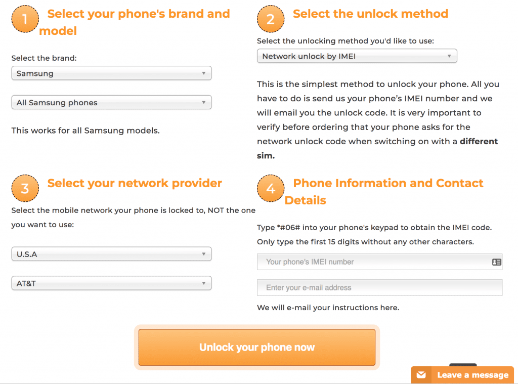 Online Unlocks - Unlock your mobile phone